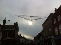 Christmas lights in chichester