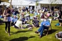 Hay festival visitors