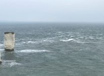 Overfalls off Dorset coast, near Old Harry's Rocks