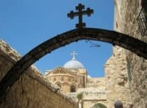Church archway in Jerusalem
