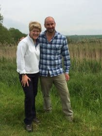 Clare Balding with Tristan gooley