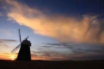 Halnaker windmill at sunset
