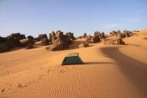 tent in the libyan desert