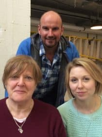 Polly findlay and bryony lavery with tristan gooley