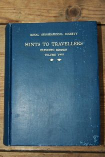 Hints to travelling from the royal geographical society