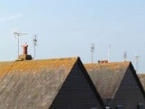 rooftops with tv aerials on