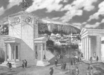 Tower of the winds in athens sketch