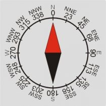 a compass drawing