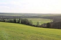 Valley from bury hill in sussex
