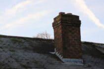 shadows on a chimney