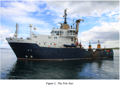The pole star ship on a voyage to iceland